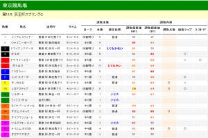 京王杯スプリングカップ 2013 調教タイム分析